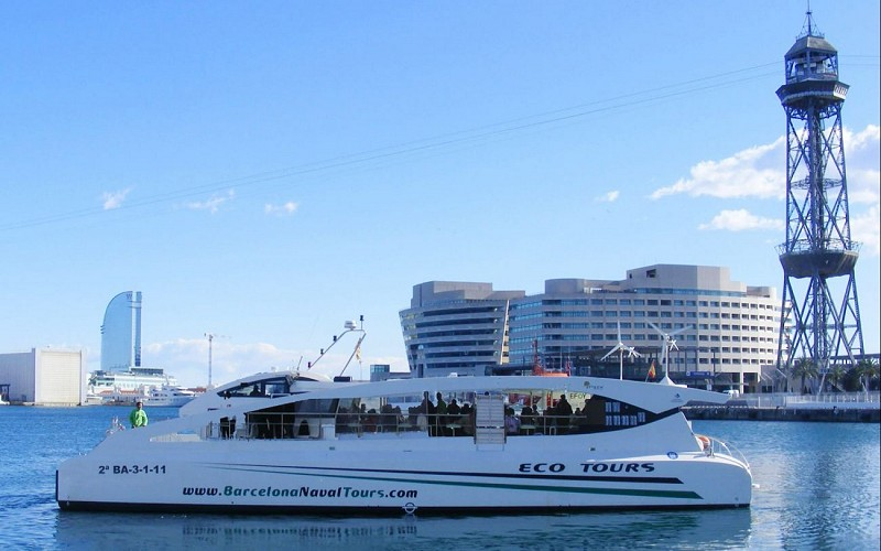 Barcelona By Land & Sea - Hop On-Hop Off Bus + Boat Tour