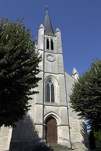 L'église Saint-Vincent à Sansais