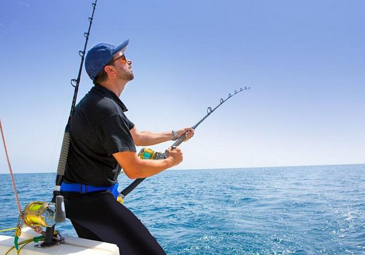 Fishing off the coast of Guadeloupe
