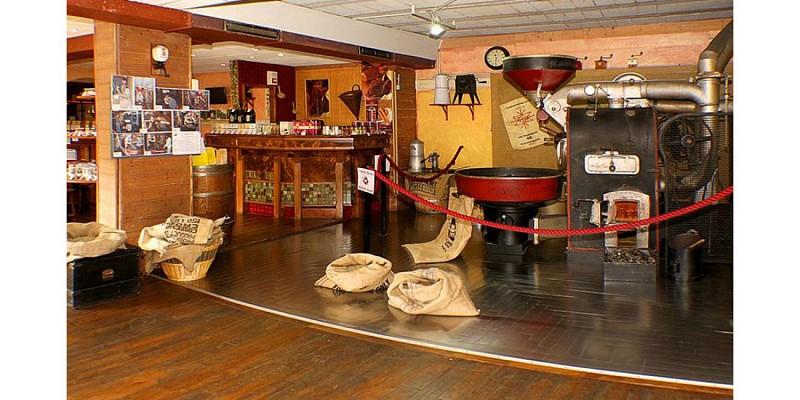 Atelier et musée de torréfaction de café à l'ancienne