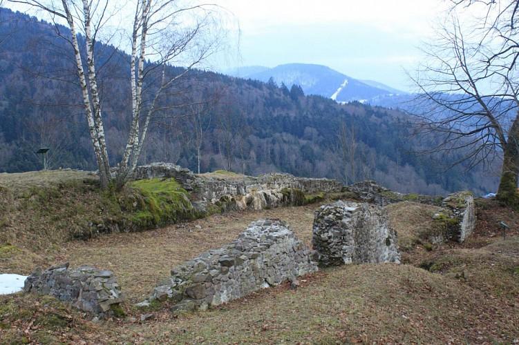 Les restes de l'habitation principale