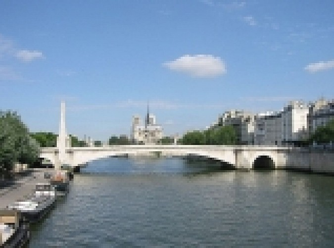 Statue of the bridge of Tournelle