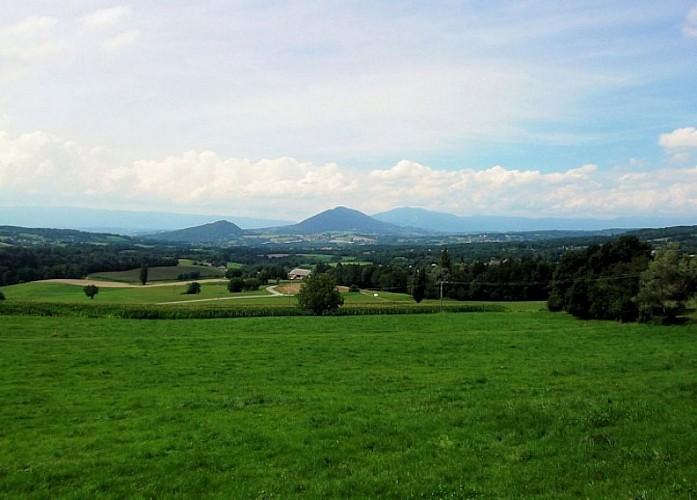 Point de vue Vuache et plaine de Choisy