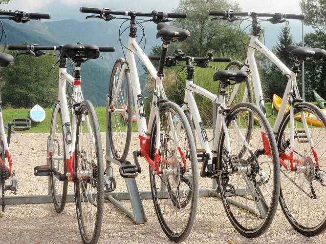 Rental of mountain bikes