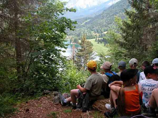 Point de vue sur le lac de Vallon