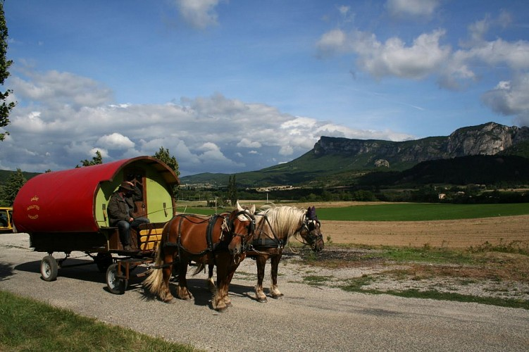 Circuit en roulotte en famille dans le pays de Dieulefit-Bourdeaux et forët de Saouu
