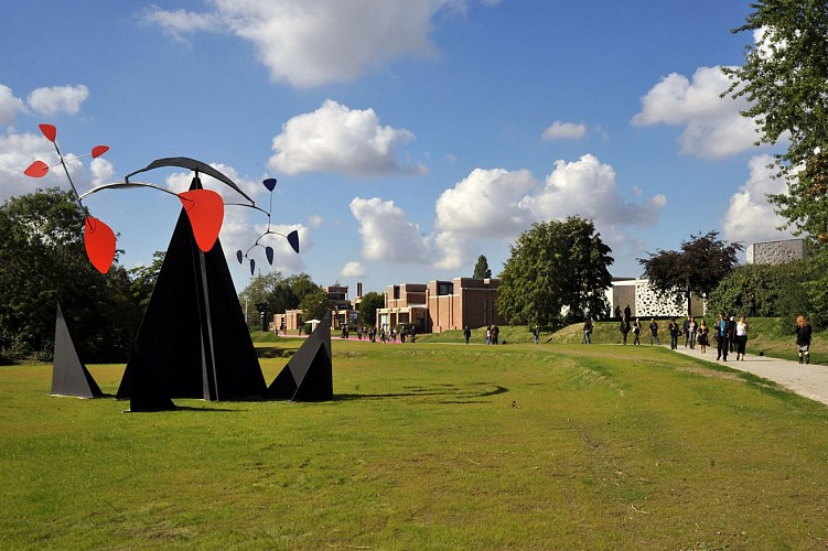 Le parc du LaM et ses sculptures