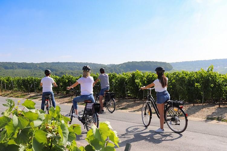 Balade à vélo électrique en Champagne - L'immersive