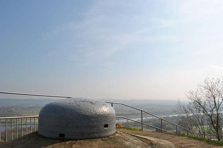 Fort Eben Emael - Dome d'Observation et vue sur Lannaye © Fort Eben-Emael