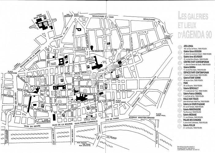 Le centre d'Art contemporain et les galeries des années 1980-90