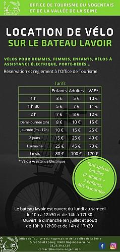 Location de vélos au Bateau Lavoir