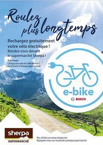 Punto ricarica per biciclette elettriche