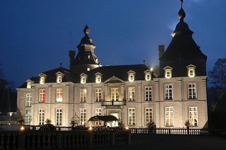 Domaine du Château de Modave - Modave - vue nocturne façade