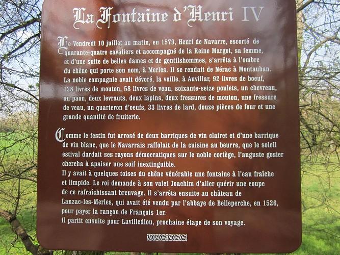 Le chêne d'Henri IV