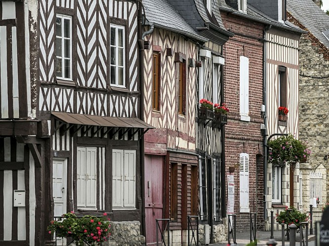 Typical Pays d'Auge houses