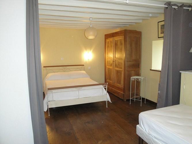 Chambre lit double et un simple