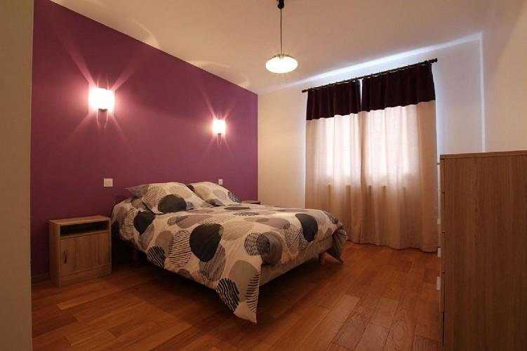 Maison Erramouspe chambre lit double - Ascarat
