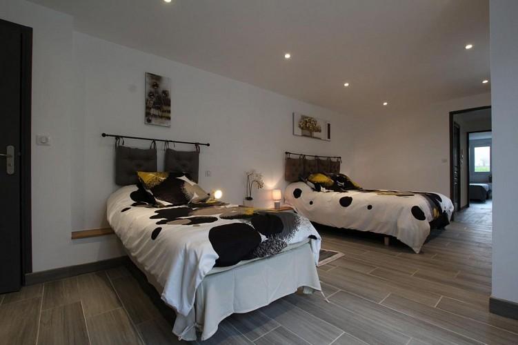 Maison Eki Begia chambre deux lits - Ainhice Mongelos