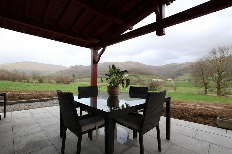 Maison Eki Begia terrasse - Ainhice Mongelos