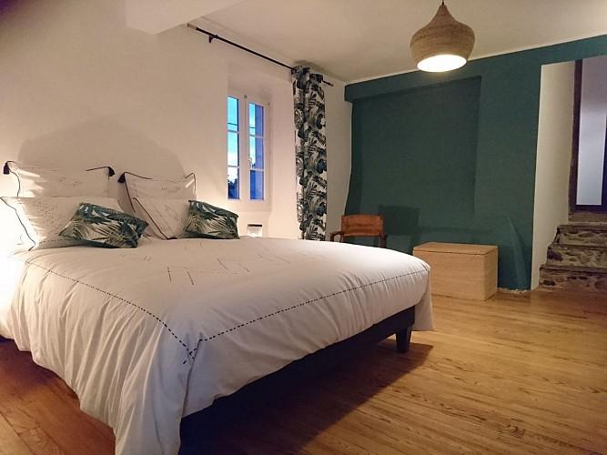 La chambre principale de La Suite Ossau