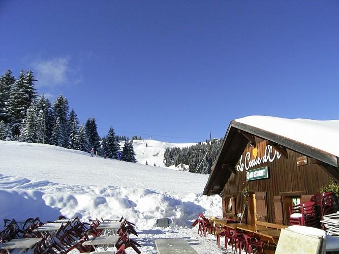 """""""Le Cœur d'Or"""" restaurant (on the slopes)"""