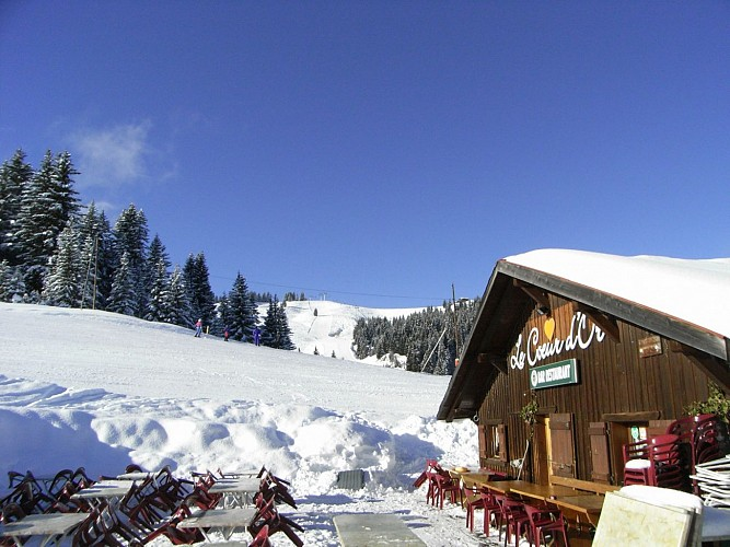 """Le Cœur d'Or"" restaurant (on the slopes)"