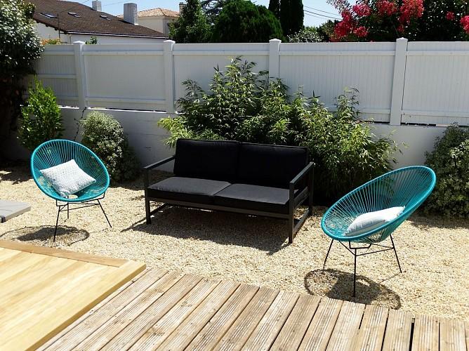 A Boisvinet, tout près de la plage, maison contemporaine & sa terrasse plein Sud