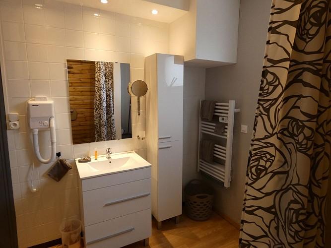 Salle de bains Villa Cutiot à Biscarrosse Gîtes de France Landes