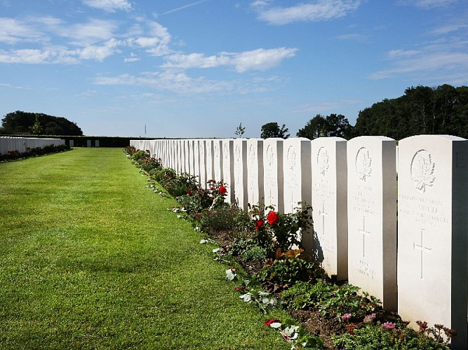 Dieppe Canadian War Cemetery, known as 'Canadian Cemetery of Virtue'