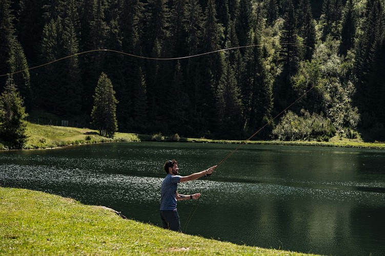 Vissen op La Mouille meer