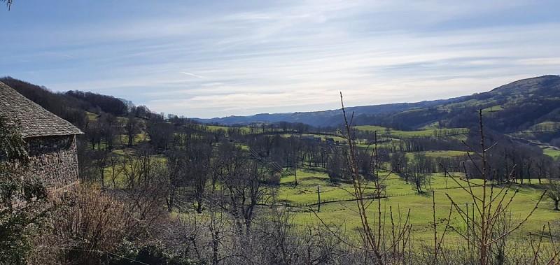 Point de vue sur la vallée du Goul et la table basaltique de Ronesque
