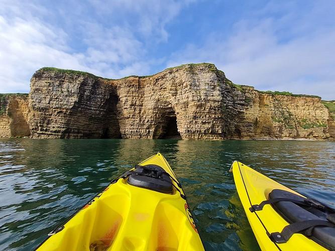 Kayak de mer Omaha Beach
