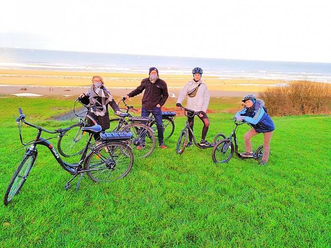 Location de vélos / station VEL'OMAHA : Colleville sur Mer ( Plage )
