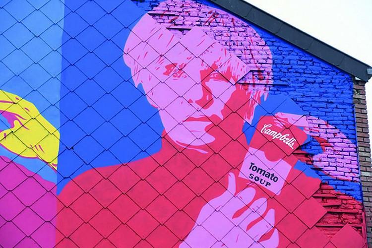 Eerbetoon aan Andy Warhol: Michaël Nicolaï en Soke (2020).