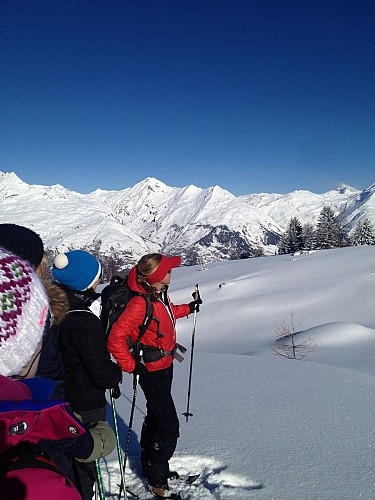 Dion Marie-Odile activité randonnée raquette hiver