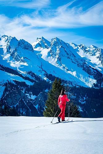 Der Fond et Raquettes Skischule