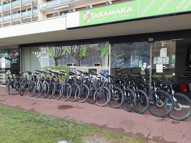 Aluguer de bicicletas Takamaka