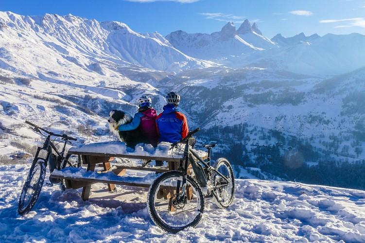 Fat Bike & E-Bike op sneeuw