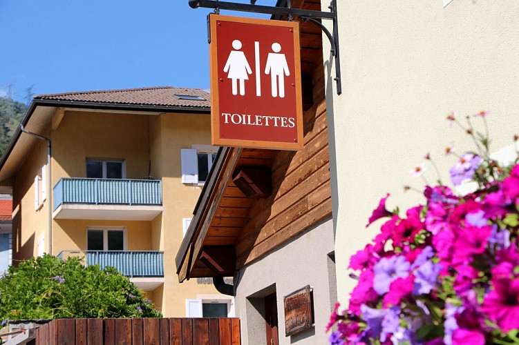 Public toilets next to Aime Tourist Office