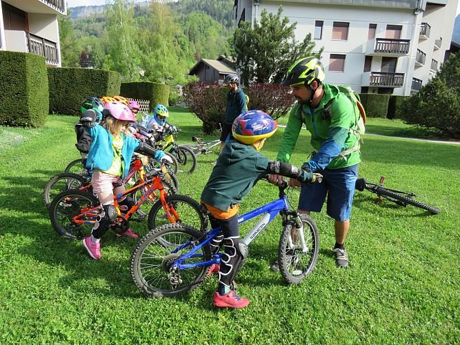 Mountain bike kid Club: groups lessons