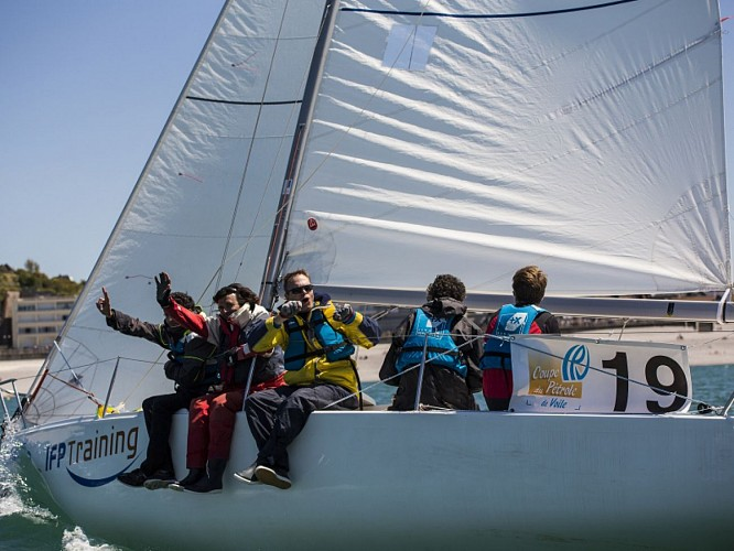 Sailing in the Le Havre bay