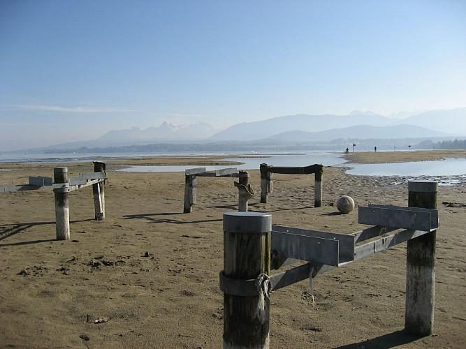 Plage naturelle de sable fin