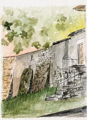 Ancien remparts du château de Lullin