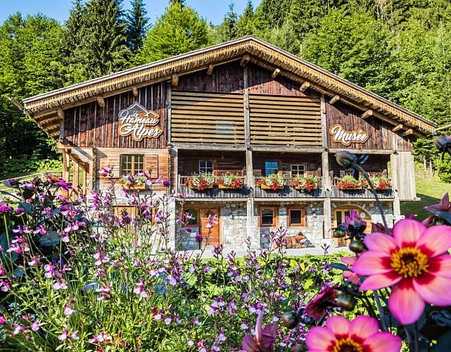 Het gehucht van de Alpen
