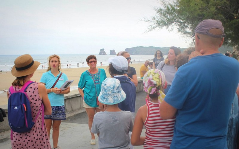 Visite commentée de Hendaye ville/plage