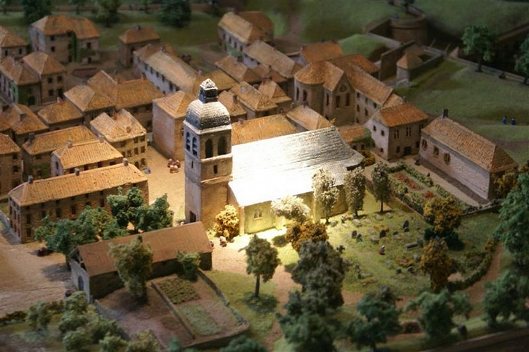 Maquette de la cité fortifiée de Navarrenx