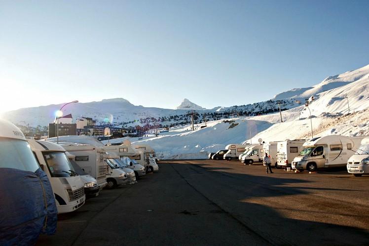 Aire de camping-cars de la Pierre Saint-Martin