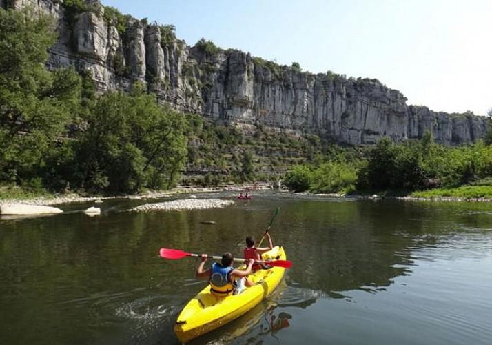 Canoë en famille à Vallon Pont d'Arc – Demi journée - Ardèche
