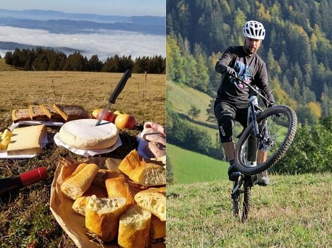 Evasion gourmande & sportive à la journée en VTT électrique : L'Aravageuse