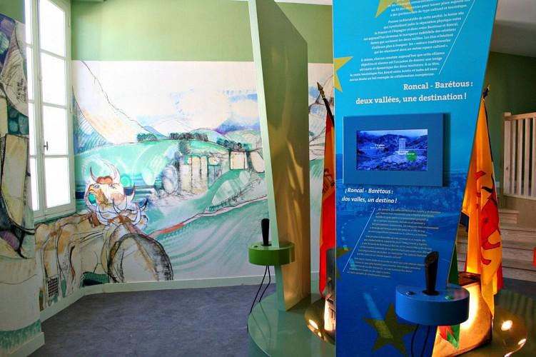 Espace muséographique de la Maison du Barétous - Fresque Junte de Roncal